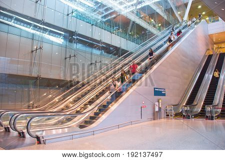 Escalators At Changi Airport, Singapore