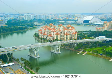 Singapore Cityscape, Birds-eye View