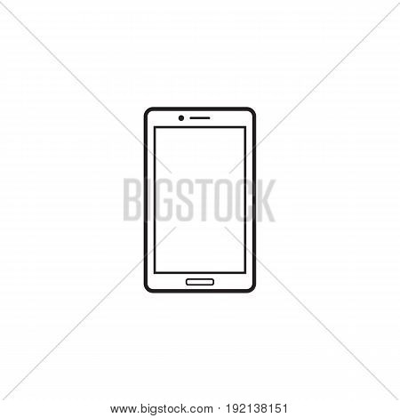 Smartphone line icon, outline vector logo illustration, linear pictogram isolated on white