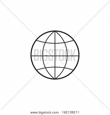 Globe line icon, outline vector illustration, linear pictogram isolated on white