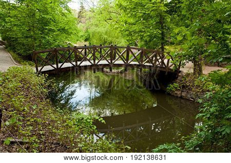 Beautiful Wooden Footbridge
