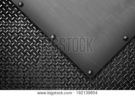 rusty diamond plate background