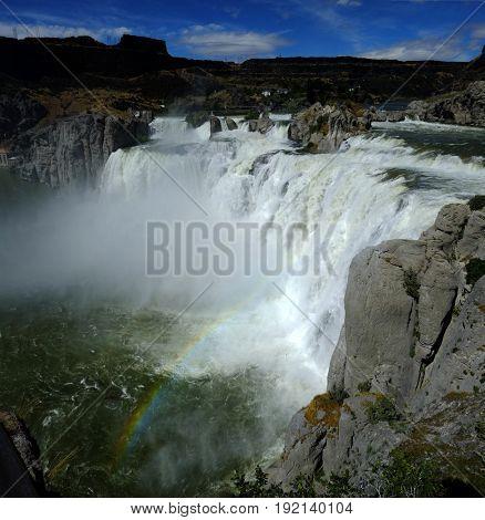 Large powerful waterfall water fall Shoshone Falls beauty amazing epic