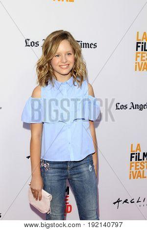 LOS ANGELES - JUN 19:  Lulu Wilson at the 2017 Los Angeles Film Festival -
