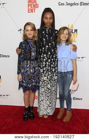LOS ANGELES - JUN 19:  Talitha Bateman, Tayler Buck, Lulu Wilson at the 2017 Los Angeles Film Festival -