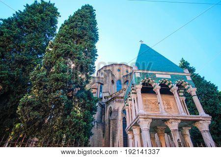 Bologna, Italy - May, 29, 2017: Basilica di San Francesco in Bologna, Italy