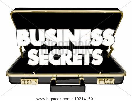 Business Secrets Briefcase Classified Confidential Trade Information 3d Illustration