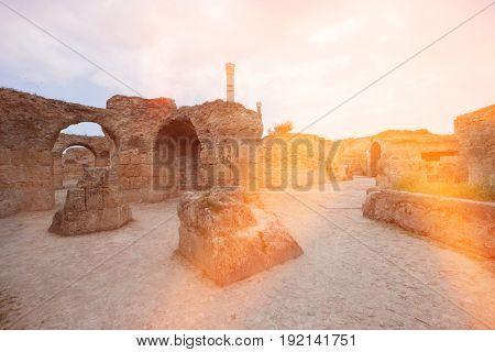 Antonine Thermae in Carthage; Tunis; Tunisia