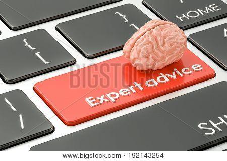 expert advice button key on keyboard. 3D rendering