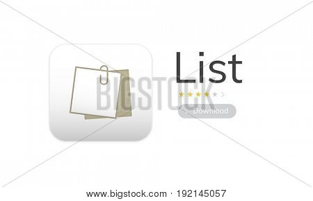 Illustration of personal organizer notepad