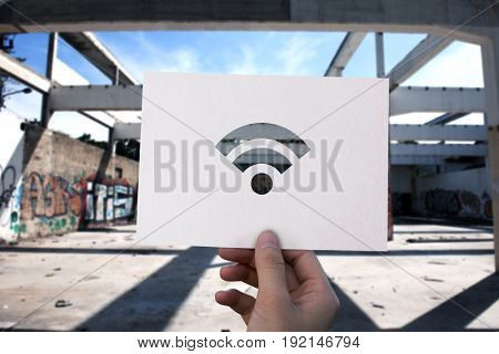 Wifi internet connection perforated paper
