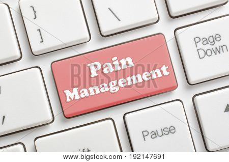 Red pain management key on keyboard