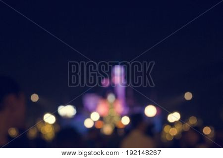 Dark Nightlights Blurry Modern Urban City
