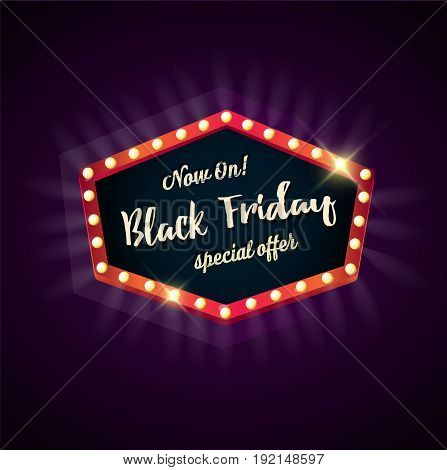 Black Friday sale black sticker vector isolated. Discount or special offer price sign on Black Friday. Sale banner. Promo offer on black friday.