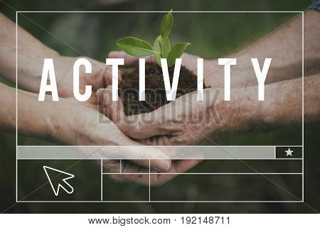 Planting Trees Nature Environment Save World Ecology Word Graphic
