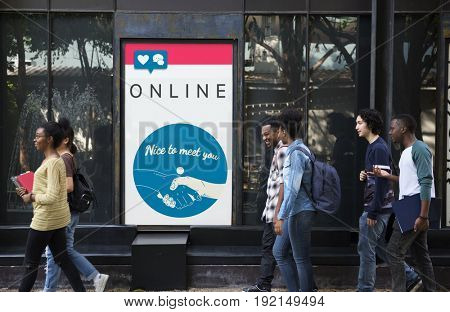 Online Connection Internet Networking Website