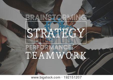 People Planning Teamwork Strategy
