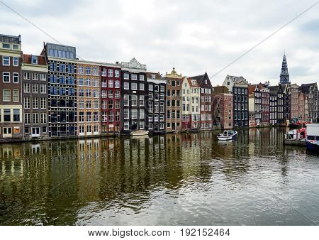 Beautiful cityscape with river and buildings