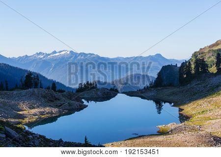 Ann lake and mt. Shuksan, Washington
