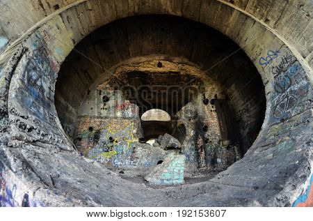 Old tunnel of Stalin. Part of Kiev defense line in WW2 time. today named