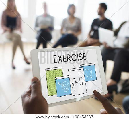 Exercise Workout Windows Web Icon