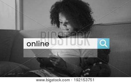 Online Communication Search Box Magnifying Glass Graphic