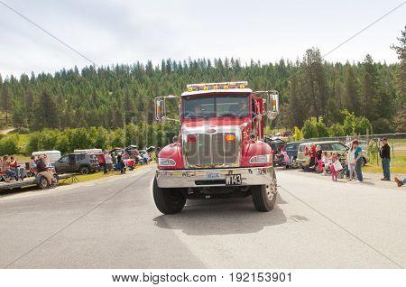 ELK, Washington - June 17, 2017 : ELK Pioneers day parade, ELK, Washington- Editorial