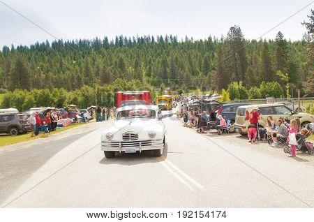 ELK, Washington - June 17, 2017 : ELK Pioneers day parade, ELK, Washington