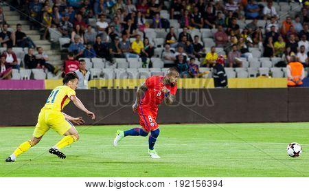CLUJ-NAPOCA, ROMANIA - 13 JUNE 2017:Chile's Arturo Vidal in action during the Romania vs Chile friendly, Cluj-Napoca, Romania - 13 June 2017