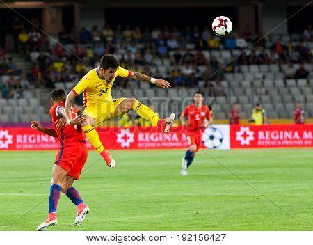 CLUJ-NAPOCA, ROMANIA - 13 JUNE 2017:Romania vs Chile friendly, Cluj-Napoca, Romania - 13 June 2017