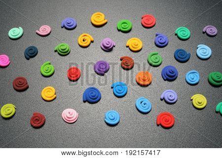 Color plasticine. Creative