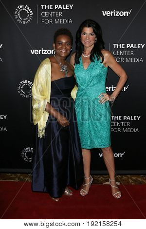 NEW YORK-MAY 17: Verizon Foundation President Rose Kirk & Paley Center President & CEO Maureen Reidy at The Paley Honors: Celebrating Women in TV at Cipriani Wall Street May 17, 2017 in New York City.