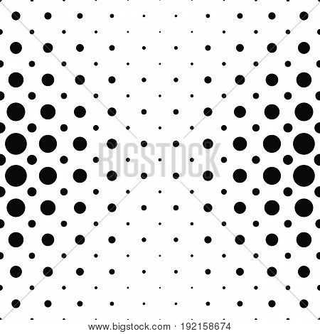 Black and white dot pattern design background