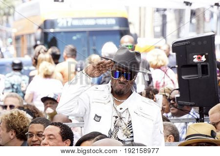 LOS ANGELES - JUN 12:  Sir Jinx at the Ice Cube Star Ceremony on the Hollywood Walk of Fame on June 12, 2017 in Los Angeles, CA