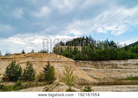 The great Disused sandstone mine in Thuringia