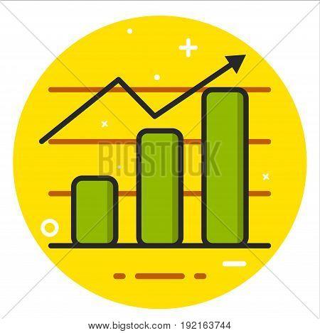 Chart icon design graphic art illustration rasterized