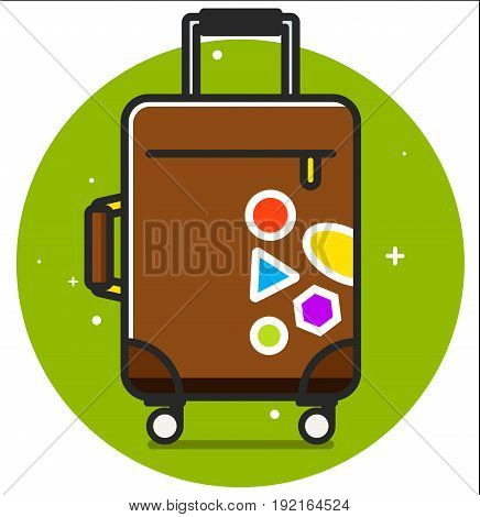 Travel bag icon . Vector illustration art design
