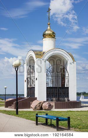 Pyotr and Fevronyi's chapel, In Balakhna on bank of Volga, Russia