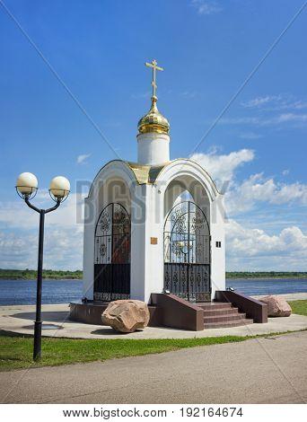 Pyotr and Fevronyi's chapel, on banks of Volga River,  In Balakhna, Russia