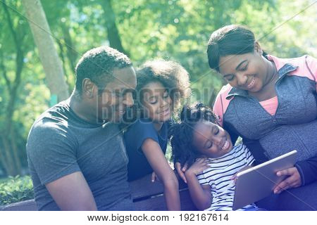 Photo Gradient Style with Exercise Activity Family Outdoors Vitality Healthy