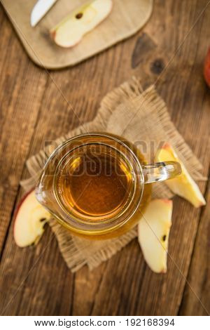Apple Cider (selective Focus) On Vintage Wooden Background