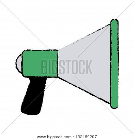 speaker loud soung marketing promotion icon vector illustration