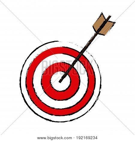target arrow marketing business successful design vector illustration