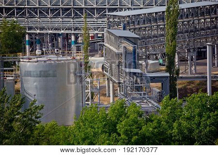 Chemical production of thermoplastics in Voronezh synthetic rubber plant