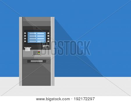 ATM machine in bank or office vector concept.