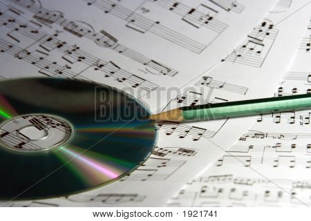 Notes, Cd And Pencil