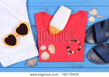 Clothing For Woman And Accessories For Vacation, Summer Time