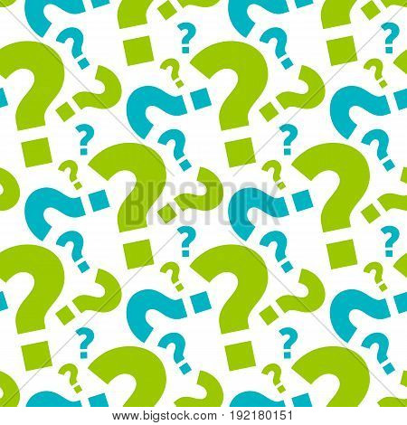 seamless question background and pattern vector illustration