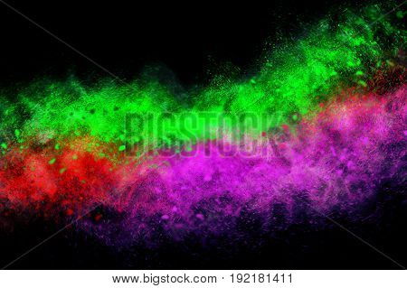 Abstract design of Multi color  on black background