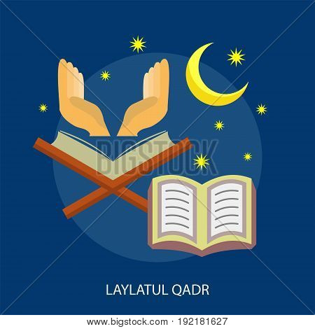 Laylatul Qadr Conceptual Design | Set of great flat design illustration concepts for religion, ramadan, islamic and much more.